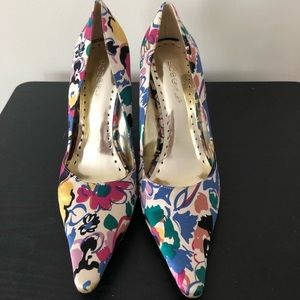 BCBGirl Abstract Floral Heels